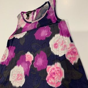 INC International Concepts Purple Floral Blouse